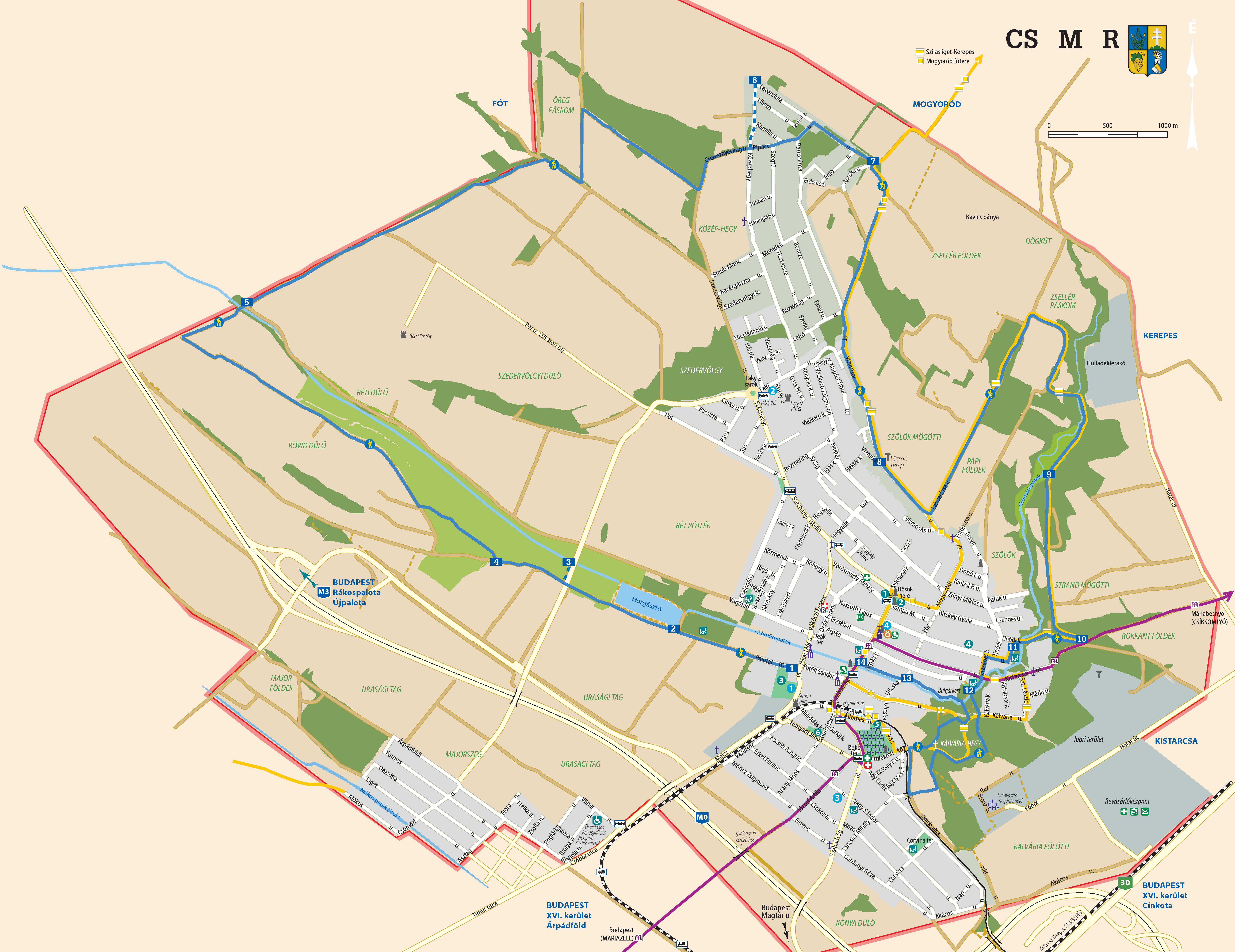 csömör térkép A sárga turistajelzés Csömörön | Csömöri Körtúra csömör térkép