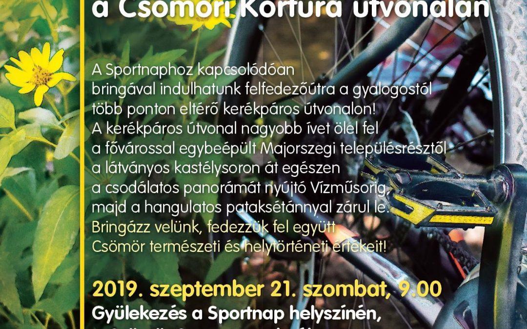 Kerékpártúra a Sportnapon